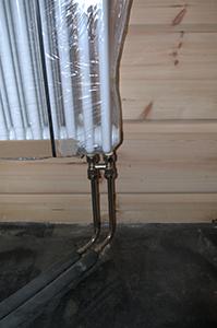Отопление в доме из бруса, Финская компания Отопление дома под ключ, Honka, Маанхонка