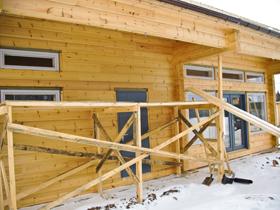 Каменно-деревянный дом по проекту Parlamentin vieraana площадью 247 кв. м., Калужская область, Малоярославецкий район